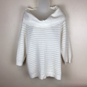NY&Co XL cream knit sweater